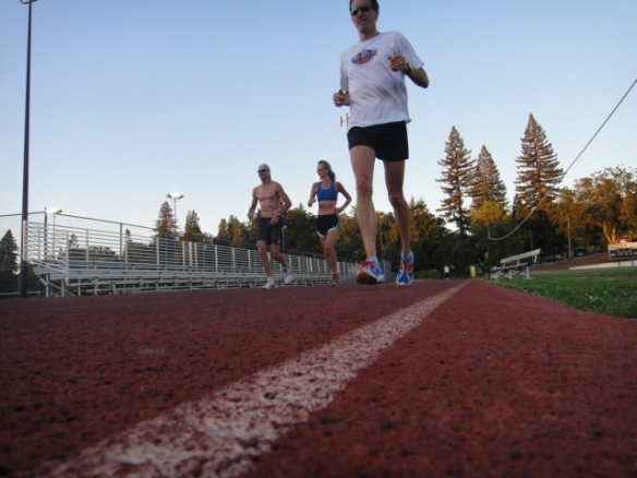 Todd, Mo and Tim Working The Track